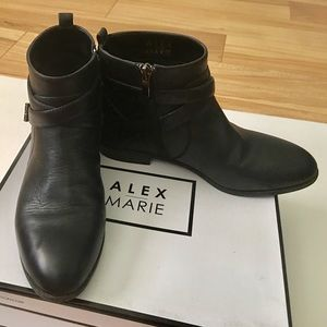 Alex Marie Buckle Detailed ankle boots